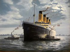 Oil Painting of RMS Titanic by Richard Moore