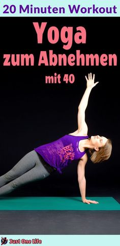 Yoga zum Abnehmen – 20 Minuten Workout Weight loss yoga works when you know which exercises. Start right away with the 20 minute workout. Fitness Workouts, Pilates Workout, Fitness Del Yoga, Man Workout, Yoga Inspiration, Yoga Ashtanga, Yoga Bewegungen, Yoga Style, Yoga Works