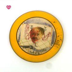 Assiette peinte à la main signée Gilbert Portanier 1950