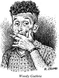 Woody Guthrie illustration by Robert Crumb