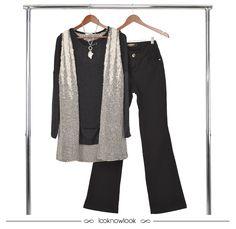 Colete + Blusa de manga longa + Calça flare preta #moda #look #outfit #ootd #tendência #novidade #colete #pelo #flare #gatabakana #blessed #inverno #frio #loja #compreonline #ecommerce #lnl #looknowlook