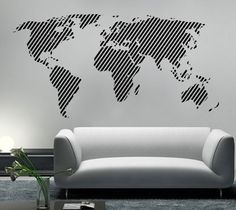 World map outlines wall decal continents by homeartstickers for world map outlines wall decal continents by homeartstickers for the boys pinterest vinyl wall stickers wall sticker and wall decals gumiabroncs Choice Image