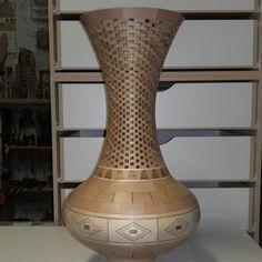 Segmented Turning, Wood Vase, Woodturning, Lathe, Bowls, Ideas, Home Decor, Mosaic Crafts, Vases