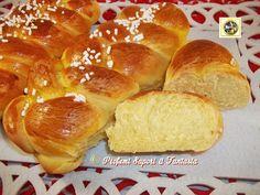Trecce di pan brioche al burro  Blog Profumi Sapori & Fantasia - impasto con la macchina del pane Plum Cake, Tasty, Yummy Food, Cake Pans, Nom Nom, French Toast, Cheesecake, Rolls, Bread