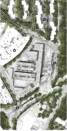 Plano esc 1:500 Paisajes de Transición Taller IX - USB MegaColegio Jardin Educativo | by David Castañeda Ardila
