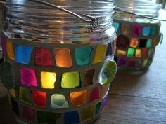 """Mosaik-Lampion """"Farbentraum"""" von Mosaikhandwerk auf DaWanda.com"""