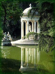 Temple of Diana in Villa Durazzo Pallavicini. Italy