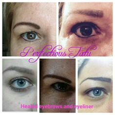 Permanent makeup, tattoo eyebrows and eyeliner. #permanentmakeup #permanentcosmetics #tattoomakeup #eyebrows #eyeliner  www.perfectioustatu.com