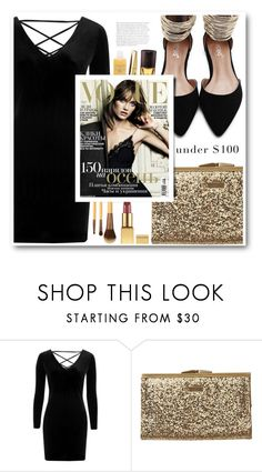 """""""black and gold"""" by tux-vij ❤ liked on Polyvore featuring Topshop, Element and under100"""