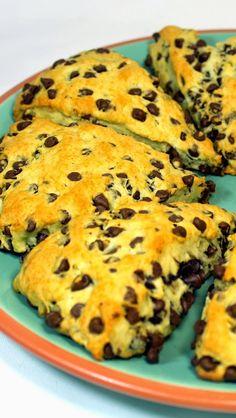 Inspired By eRecipeCards: SUPER MOIST Sour Cream Chocolate Chip Scones - 52 Church PotLuck Breakfast