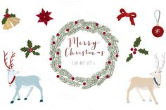 Check out Christmas clip art set 1 by The little cloud on Creative Market