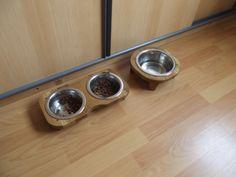 voerbak tafeltjes voor de katten