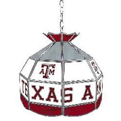 Texas A & M University Stained Glass Tiffany Lamp - 16 Inch
