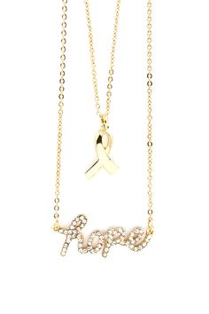 Golden Layered Hope Necklace | Awesome Selection of Chic Fashion Jewelry | Emma Stine Limited
