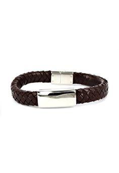 Dparis Braid Raid Magnetic Brown Bracelet