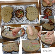 """More fine-motor fun with the natural geoboards- from Rachel ("""",)"""