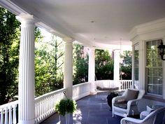 Fluted wrap around porch columns