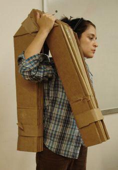 Shellhouse – portable cardboard shelter
