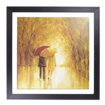Couple with Umbrellas Framed Print | Dunelm