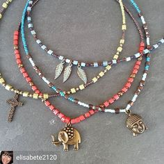 @Regranned from @elisabete2120 #beadedjewelryofinstagram - #regrann #Twitter #beadedjewelry #necklaces #beadednecklaces #turquoise #yoga #handmade #diy