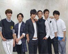 Sota Fukushi. MEN ON STYLE. [Member]from left Ryosuke Yamamoto, Tasuku Nagase, Sota Fukushi, Ryo Ryusei, Tomohiro Ichikawa, Jingi Irie