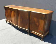 Vintage French Country Provincial SIDEBOARD Buffet CREDENZA Burl Wood Claw Feet | Antiques, Furniture, Sideboards & Buffets | eBay!