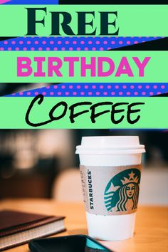 Starbucks Canada - Free Coffee on Your Birthday when you join Rewards Club! We'll show you how to get a free coffee with Starbucks Starbucks Free Coffee, Starbucks Store, Starbucks Drinks, Starbucks Birthday, Birthday Coffee, Free Birthday Food, It's Your Birthday, Canada Birthday, Starbucks Rewards