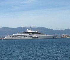 Eclipse back in Gibraltar. Built by  Blohm and Voss. #gibraltar #instaluxurylife #instayacht #instaluxury #instalike #luxuryyacht #megayacht #superyacht #yacht #billionaire #superyachts #superyachtworld #superyachtlife  #megaluxury #eclipse #blohmvossyachts #blohmvoss #yachts #yachtlife #yachtworld #wheelingaround #wanderer #megaluxury #luxury #luxurylife #billionareworld #travel #popular #instalike #instadaily #instapic #instayacht #instaworld by dannywheelz