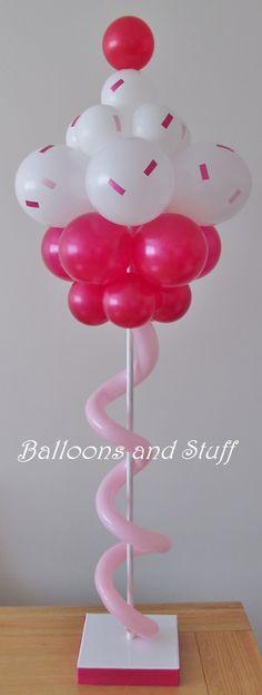 Balloon Cupcake Table Centrepiece Decoration