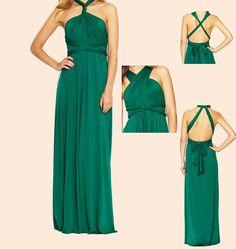 Convertible Dresses Long Aline floor length by BlushingBridesmaids, $120.00