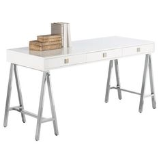 I pinned this Embassy Desk in White from the Work It event at Joss and Main!