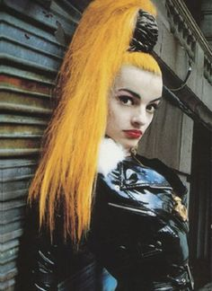 Nina hagen. This is the best way to do a face lift. a tight ponytail will keep your eyebrows and everything else, higher....