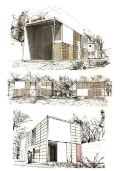 Eames House Perspective