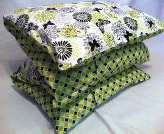 """No Rest for the Creative: The Pillow Mattress - Method II - Using 44/45"""" wide fabrics (2 1/2 yards  material front and back each! like 4 sham pillow cases sewn together!)"""