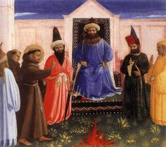Fra Angelico (1395-1455) - The Trial by Fire of St. Francis before the Sultan, 1429