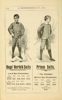 1904 Boy's Suits from the J. Rotherham & Co. Ltd. catalogue