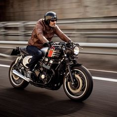 """overboldmotorco:  """"Spitfire '09"""", the Honda CB Seven Fifty, one year ago. Nowdays riding at the UK #macco #hondacaferacer #honda #cb #cb750 #caferacer #scrambler #tracker #lifestyle #loveforbikes #maccomotors Pic: @sergioibarraphoto by maccomotors http://overboldmotor.co"""