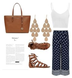 """""""Untitled #165"""" by daijah-escobar on Polyvore featuring Glamorous, O'Neill, Irene Neuwirth and MICHAEL Michael Kors"""