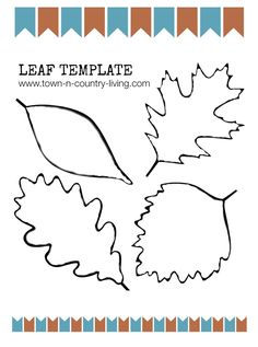Free Printable of a Fall Leaf Template