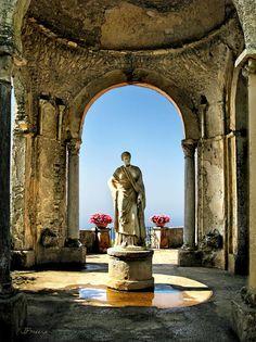 Villa Cimbrone is a historic building in Ravello, Italy on the Amalfi coast