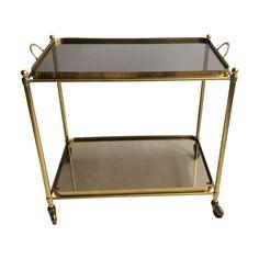 Unique Antique Brass Bar Cart