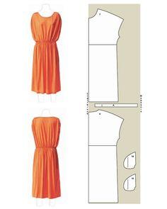 Tunika Kleid Schnittzeichnung