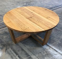 Recycled Timber palings industrial coffee table made by