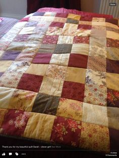 Quilt by Sarah Bowen Knitting Projects, Quilts, Blanket, Bed, Home, Blankets, Stream Bed, Patch Quilt, Ad Home