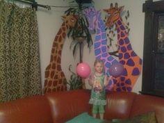 circus birthday giraffes