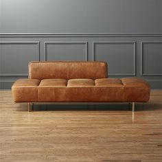 lawndale leather daybed | CB2