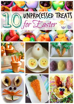 love this list of unprocessed Easter treats and snacks!