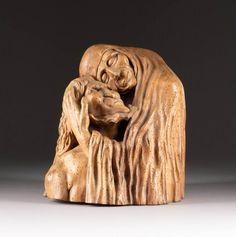 Ferdinand, Art Auction, Lion Sculpture, Statue, Products, Contemporary Art, Wood Carvings, Auction, Wood