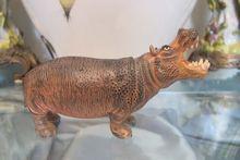 Vienna Bronze figure modelled as an ungainly hippo, signed Bergmann