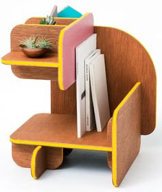 This six-sided piece of furniture can be flipped over to reveal different functions.